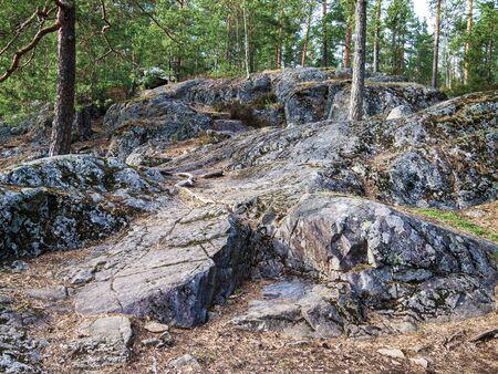 granite ledges of the Baltic shield. granite outcrops.
