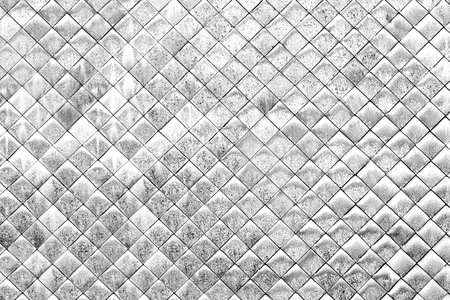 Vintage white and small tile wall background