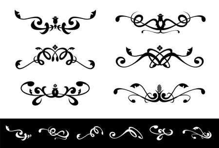 symmetrical floral ornaments