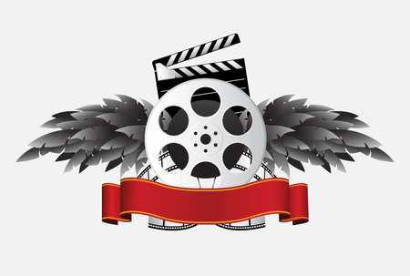 film reel with banner & wing