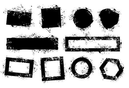 grunge elements  Illustration