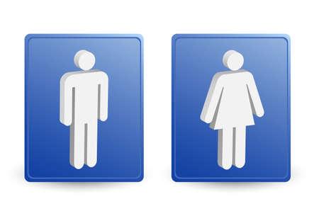 man & ladies symbols