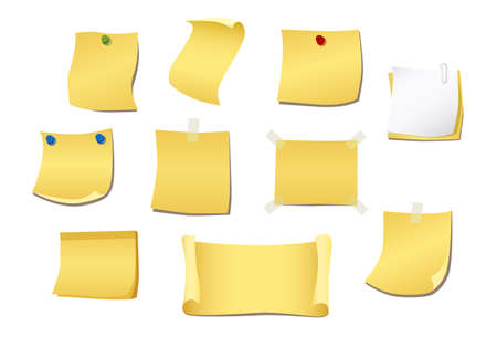 yellow note Stock Vector - 8899641