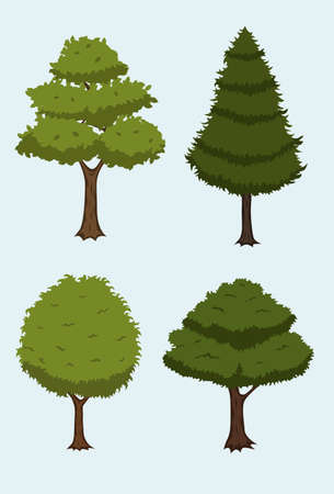 cartoon tree collection