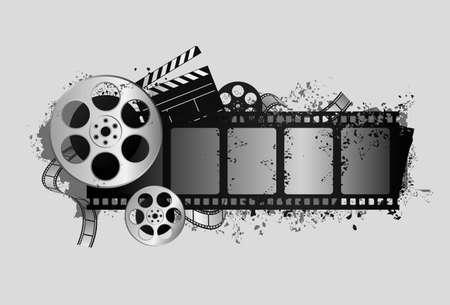 movie film reel: dise�o de elementos de dise�o de tema de pel�cula