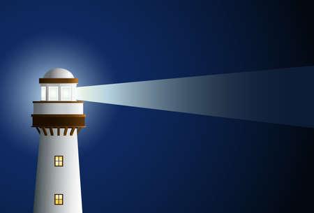 lighthouse at night: Faro