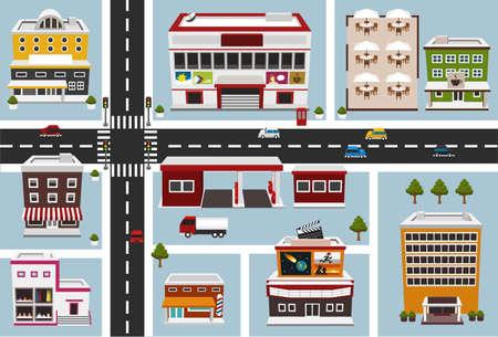 cruce de caminos: mapa de la zona comercial