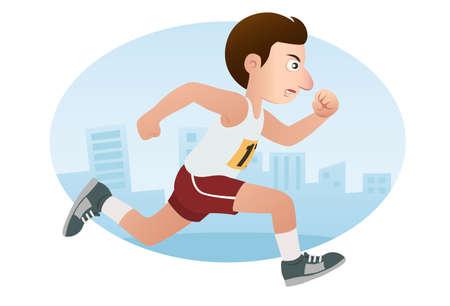 maratón: Maratón Ilustrace