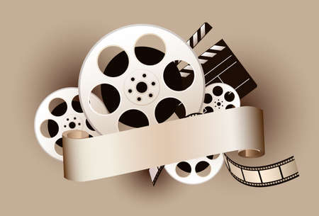 movie theme design Vector