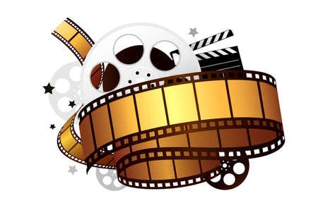 carrete de cine: pel�cula tema de dise�o Vectores