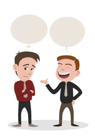 een man aan het woord en een man vervelen