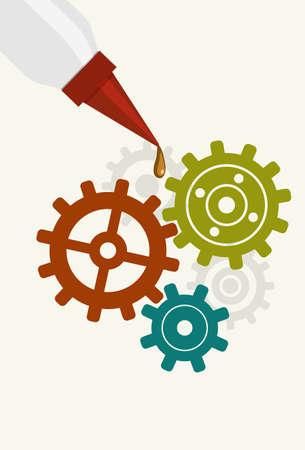 lubricate: gears Illustration