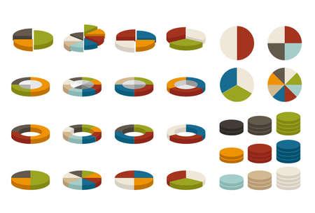 grafica de pastel: coloridos gráficos circulares