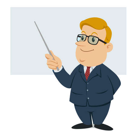 a male teacher holding a wand Stock Vector - 22558369