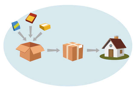 Packing & shipping Illustration
