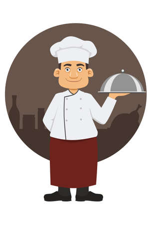 Smiling chef in his uniform Illustration