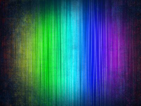 Wallpaper rainbow colors in a vintage-style vignette