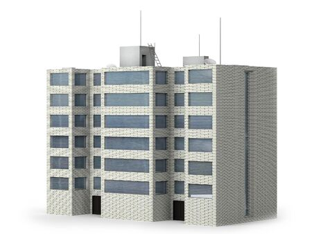 This image is the building of 6 floors in 3d