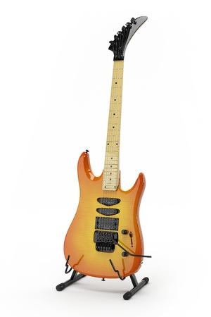 This 3D model of the electric guitar Stock Photo
