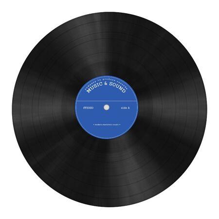 DJ `s gramophone plate illustration