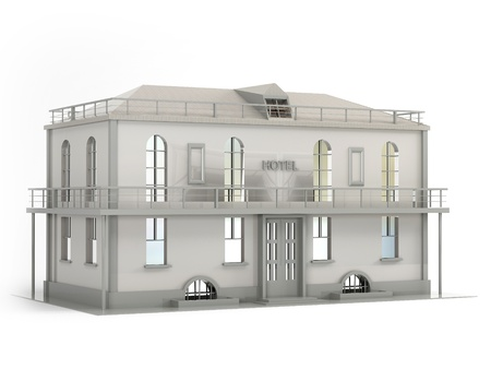 This 3D model of the hotel