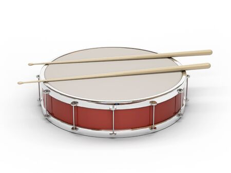 This 3D model of red drum, which played in the Soviet Union Stock Photo