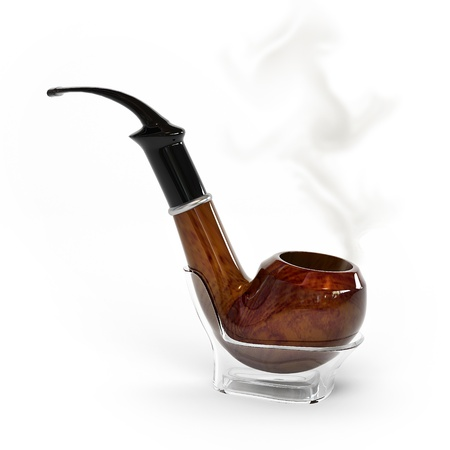 This is a 3D image with a pipe