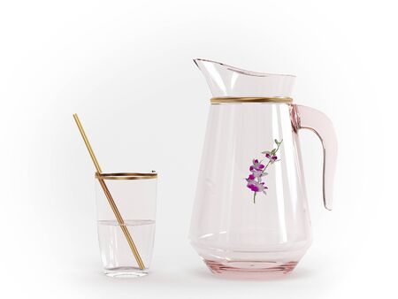 Pitcher and glass, 3d models