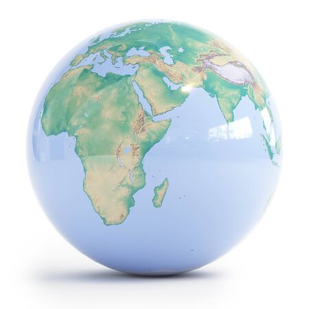 Planet Earth is isolated on a white background