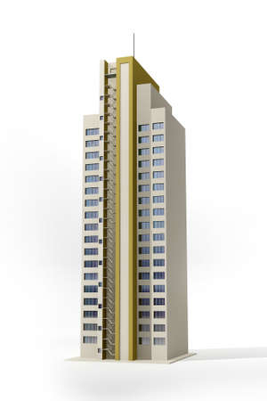 This image is a skyscraper in 3d Stock Photo
