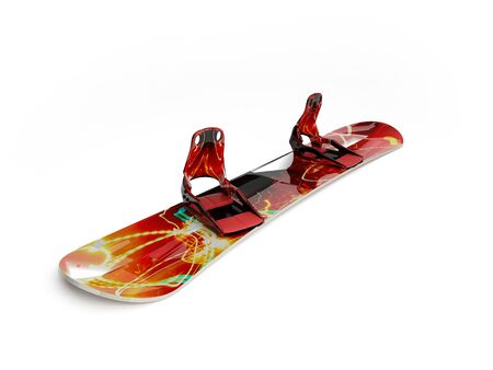 This 3D model snowboard red Stock Photo