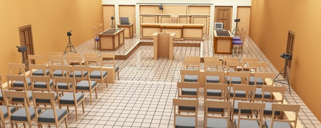 courtroom: The interior of the courtroom. Panoramic views. 3-D graphics