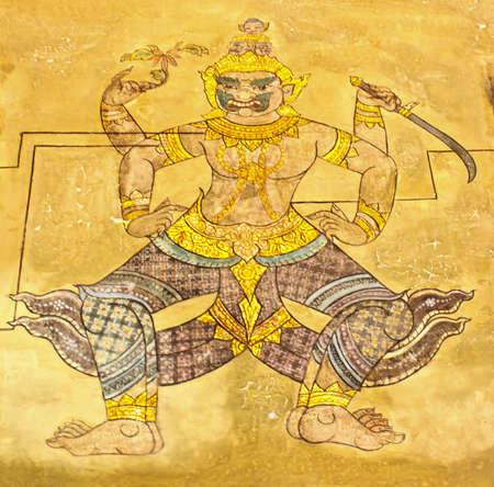 Mural in Wat Pho