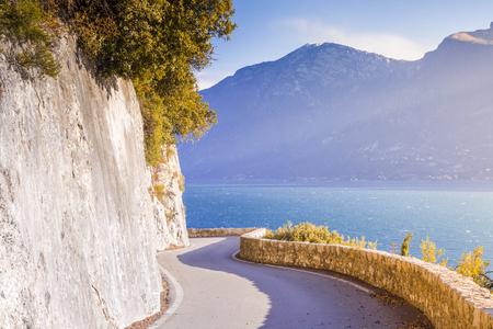 Western Gardesana scenic route, Lake Garda, Brescia province, Lombardy, Italy