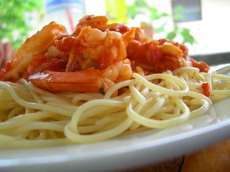 Spaghetti seafood Stock Photo - 1080047