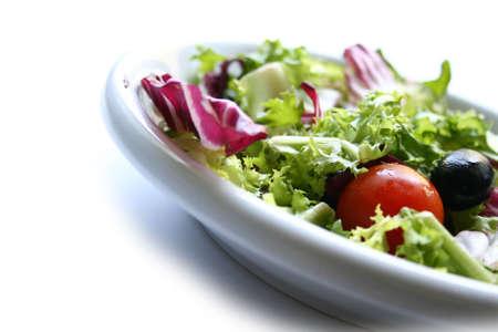 dish of mix salad isolated on white background photo