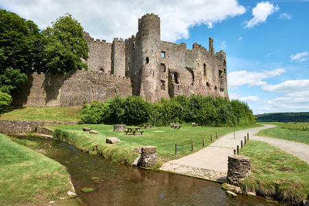 Laugharne castle, wales, pic taked in a sunny day