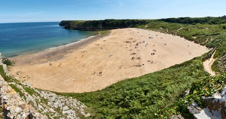 Barafundle Beach, Bay near Stackpole, Pembrokeshire, Wales, UK