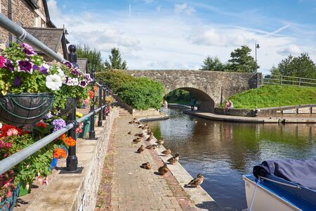 Brecon canal basin Powys Wales UK