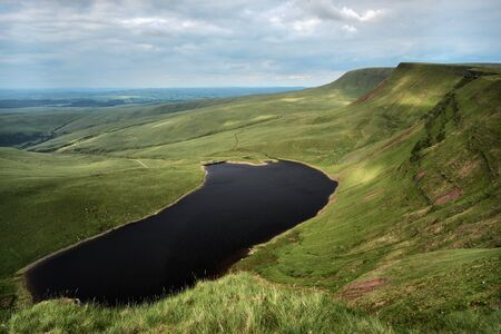 Llyn y fan fach, the welsh lake in Brecon Beacons National Park