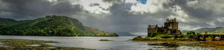 peaty: Panoramic of Eilean Donan Castle, Highlands, Scotland
