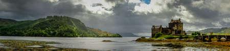 peaty: Panoramic of Eilean Donan Castle, Highlands, Scotland