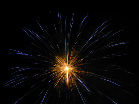 feats: Isolated Fireworks in Venice - Italy Stock Photo