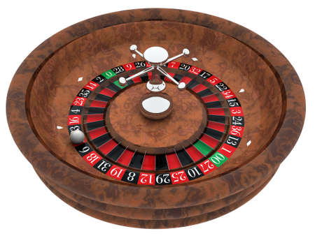roulette table: roulette isolated on white background