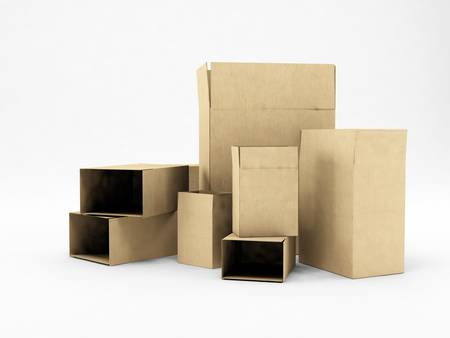 stockpile: boxes isolated on white background