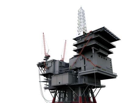 oil platform: 3D oil platform