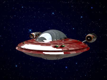 ufo isolated on white background photo