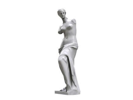 venus statue isolated on white background photo