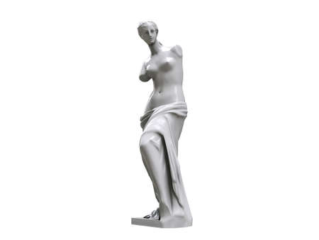 aphrodite: venus statue isolated on white background