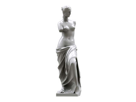 venus statue isolated on white background photo